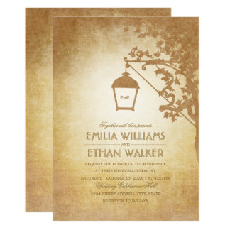 Vintage Wedding Invitations Rustic Country Fall