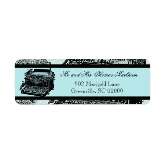 Vintage Wedding Love Letters Custom Address Labels