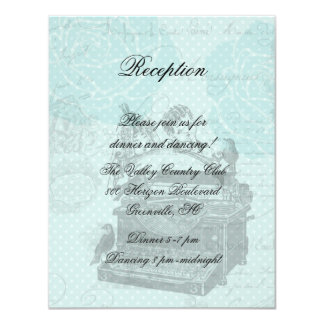Vintage Wedding Love Letters Reception Card