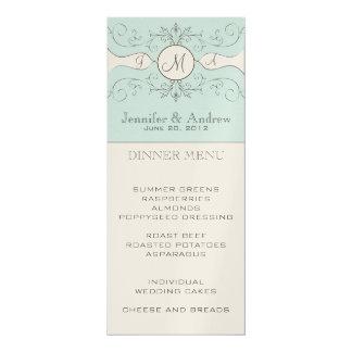 Vintage Wedding Menu Card