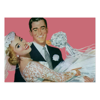 Vintage Wedding Newlyweds, Groom Carrying Bride Pack Of Chubby Business Cards