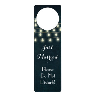 Vintage Wedding Night Honeymoon Do Not Disturb Door Knob Hangers