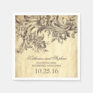 vintage wedding paper napkins paper napkin