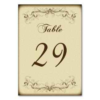 Vintage Wedding Party Elegant Table Card