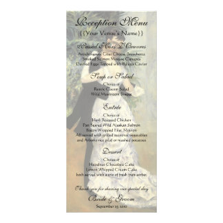 Vintage Wedding Reception Menu, City Dance, Renoir Customized Rack Card