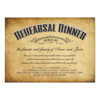 Vintage Wedding Rehearsal Dinner Invite