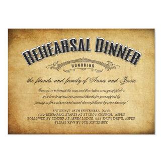 Vintage Wedding Rehearsal Dinner Invite