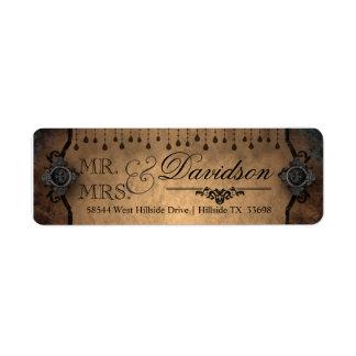 Vintage Wedding Return Address Label