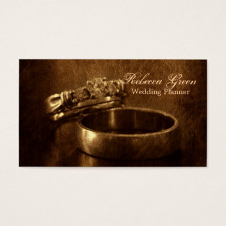 vintage wedding rings rustic engagement party business card