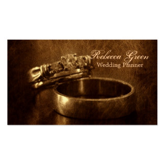 vintage wedding rings rustic engagement party pack of standard business cards