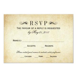 Vintage Wedding RSVP Cards   Elegant Flourish 9 Cm X 13 Cm Invitation Card