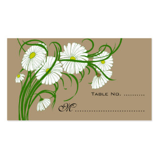 Vintage Wedding Table Numbers Gerber Daisy Flowers Business Card