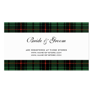 Vintage Wedding, Tartan Davidson Modern Pattern Pack Of Standard Business Cards