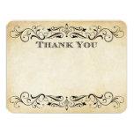 Vintage Wedding Thank You Cards | Elegant Flourish Invitations