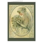 Vintage Wedding, Victorian Bride Bridal Portrait Note Card