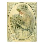 Vintage Wedding, Victorian Bride Bridal Portrait Post Cards