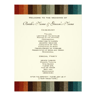 Vintage Wedding, Warm Autumn Stripes Pattern 21.5 Cm X 28 Cm Flyer