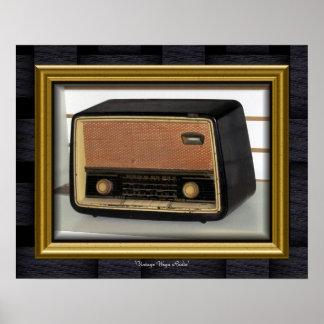 'Vintage Wega Radio' Poster
