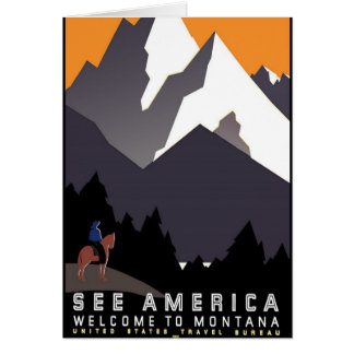 Vintage - Welcome to Montana Card