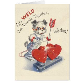 Vintage Welder Valentine's Day Card
