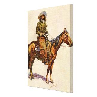 Vintage Western, An Arizona Cowboy by Remington Stretched Canvas Prints
