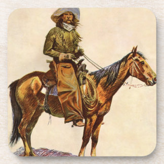 Vintage Western, An Arizona Cowboy by Remington Coaster