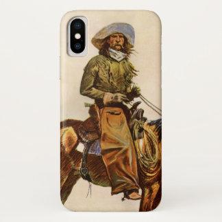 Vintage Western, An Arizona Cowboy by Remington iPhone X Case