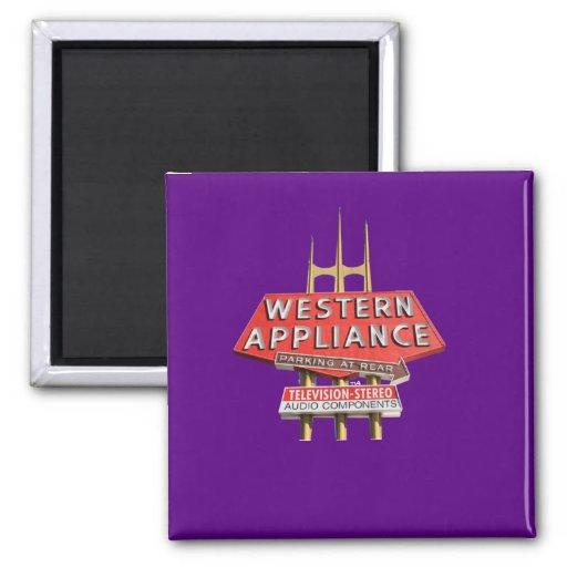 vintage western appliance sign magnets