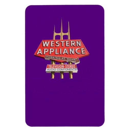 vintage western appliance sign vinyl magnets