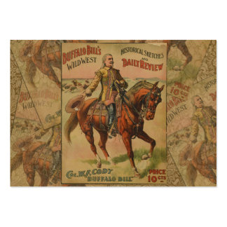 Vintage Western Buffalo Bill Wild West Show Poster Pack Of Chubby Business Cards