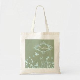 vintage western country rustic wedding tote bag