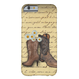 Vintage Western Cowboy Boots romantic iphone5case Barely There iPhone 6 Case