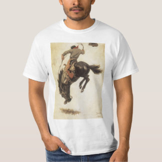 Vintage Western, Cowboy on a Bucking Bronco Horse T-Shirt