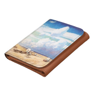 Vintage Western Cowboys, Covered Wagons by Wyeth Leather Wallets
