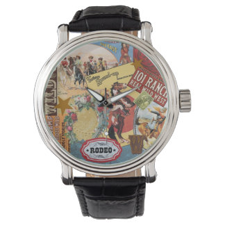 Vintage western cowgirl collage watch