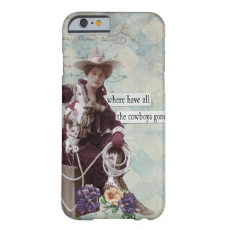 Vintage Western Cowgirl iPhone 6 case Barely There iPhone 6 Case