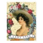 Vintage western cowgirl photo postcard