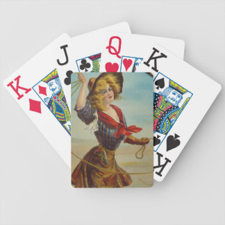 Vintage Western Cowgirl Rodeo Ranch Hostess Gift Bicycle Playing Cards