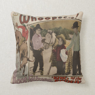 Vintage Western King Of The Rodeo Movie Poster Cushion