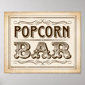 Vintage Western POPCORN BAR Sign Print