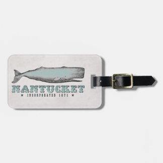 Vintage Whale Nantucket MA Inc 1671 Luggage Tag