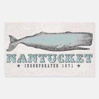 Vintage Whale Nantucket MA Inc 1671 Stickers