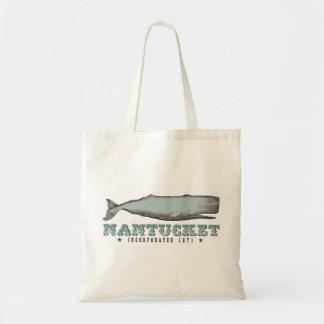Vintage Whale Nantucket MA Inc 1671 Tote Bag
