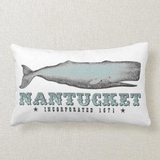 Vintage Whale Nantucket Massachusetts Inc 1671 Lumbar Pillow