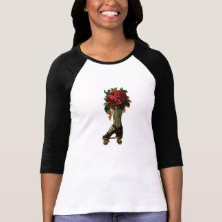 Vintage Whimsical Red Rose Steampunk Roller Skate T Shirts