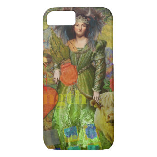 Vintage Whimsical Taurus Woman Collage Fantasy iPhone 8/7 Case