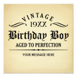 Vintage Whiskey Aged to Perfection Birthday Invite