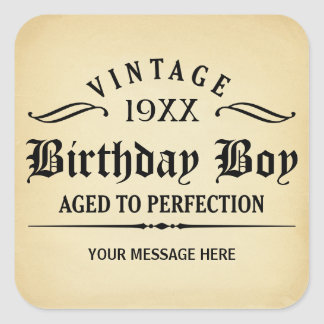 Vintage Whiskey Person Funny Birthday Sticker
