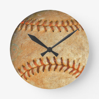 Vintage White Baseball red stitching Wallclock