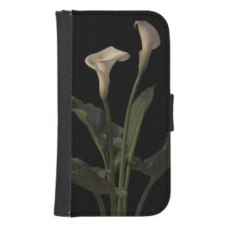 Vintage White Calla Lilies Samsung S4 Wallet Case